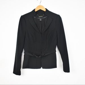 WHBM Black Belted All Seasons Blazer Jacket